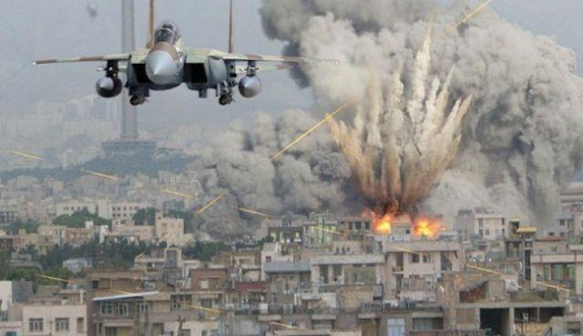 सीरिया में हवाई हमले से हो रहा विवाद
