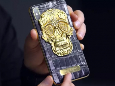 Custom iPhone with 18k gold skull, alligator leather and 137 DIAMONDS on sale for £20,000