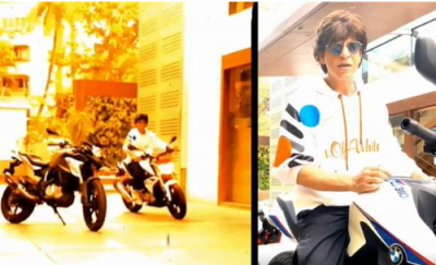 Shahrukh Khan gets spotted while on the BMW's this  bike ride
