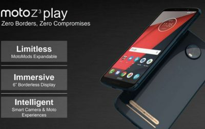 Moto Z3 Smartphone Launched, Here are all the Specifications