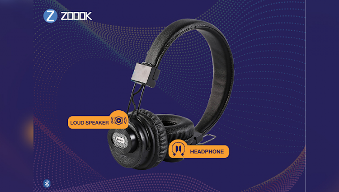 Zoook JAZZDUO - An app based convertible Bluetooth Headphone + Bluetooth Speaker launched in India