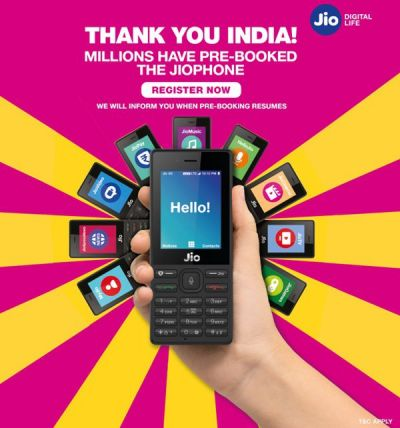 More than 30 million pre-booking for JioPhone, Here is How to Book The Phone Offline