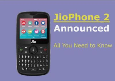 Here are the features of newly launched Reliance's Jio Phone 2