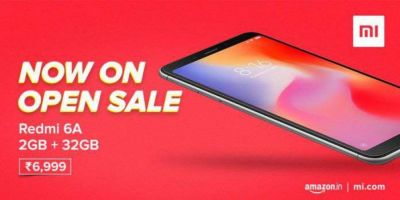 Redmi 6A 32 GB variant available for the open sale
