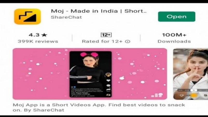 PLAY STORE पर तेजी से बढ़ रहा MOJ ऐप के यूजर्स का आंकड़ा
