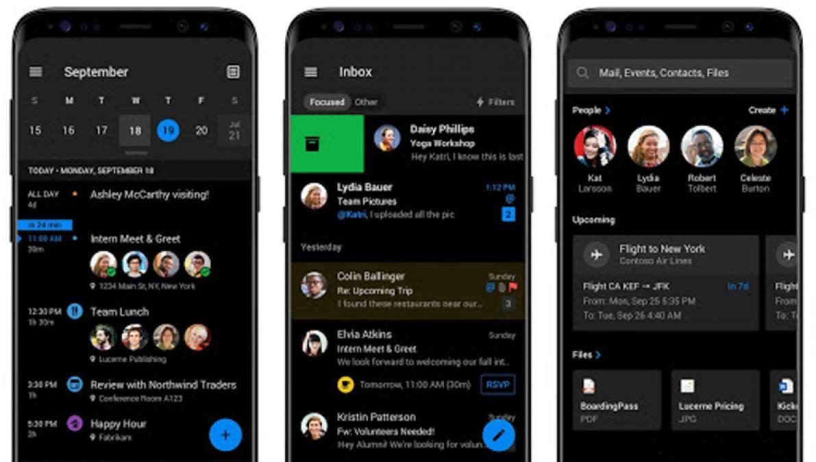 Android और iOS के लिए आउटलुक का नया डार्क मोड हुआ लांच