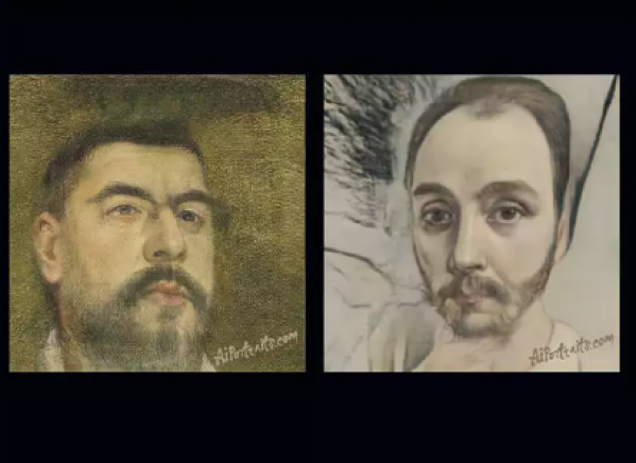 This Site uses AI to turn your selfies into haunted classical portraits