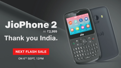 Know about the nest Jio Phone 2 flash sale