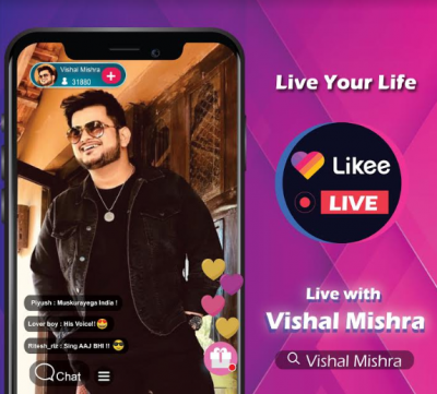 India's iconic music composer and singer Vishal Mishra connects with fans via Likee Live