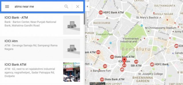 गूगल बताओ ATM कहा है