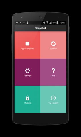 एप की मदद से ले,स्क्रीन शॉट