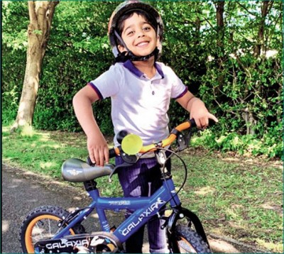 This 5-year-old boy raises Rs 3.7 lakh for Covid19 relief by cycling