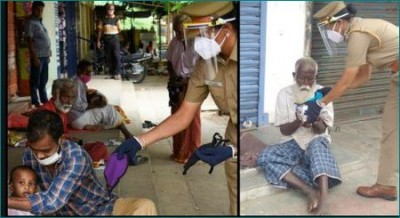 Tiruchi Police officer Jothimani feeds poor every Sunday