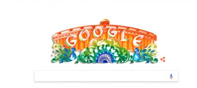 गूगल ने बदला तिरंगे के रंग में अपना डूडल