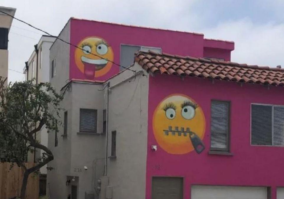 Woman Paints Emojis on Her House' walls, Neighbors Said Its Revenge