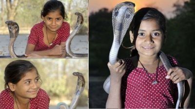 जहरीले सांपो के साथ रहती हैं ये 11 साल की बच्ची, देखकर रूह काँप जाएगी