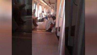 मेट्रो में ही करने लगा ये शख्स ऐसी गंदी हरकत, वीडियो हुआ वायरल