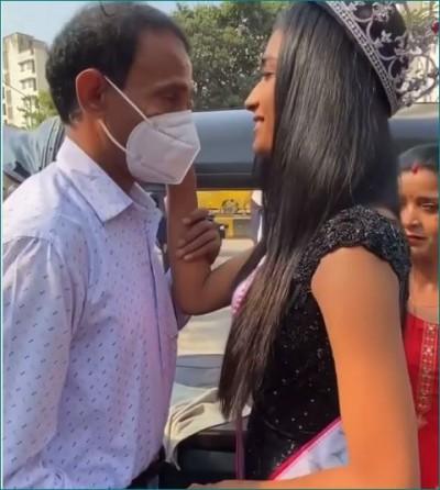 VIDEO: Miss India Runnerup Manya Singh Reaches In Father's Autorickshaw