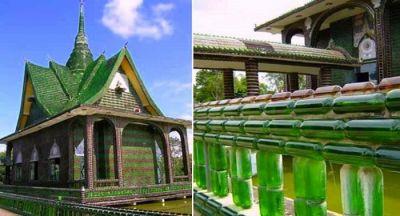 बीयर की बोतलों से बना है ये खूबसूरत मंदिर