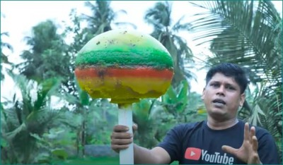 Have you ever eaten a 25 kg lollipop, watch this video!