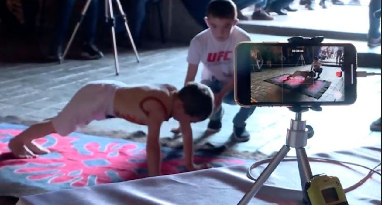 3000 pushups in 2 hours for a 6-year-old, no less than a record!