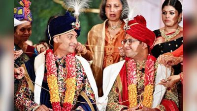 Indian men marry each other, one performed rituals like a bride