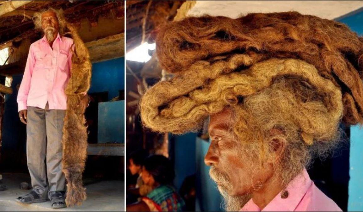 इस शख्स ने हैं 6 फिट लम्बे बाल, ना धोये न कटवाए, अजीब है कारण