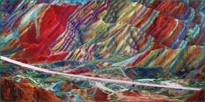 Here are what rainbow mountains made off, people come from far to enjoy the sight