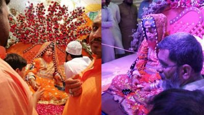 This Pakistani religious guru is doing this work in a bride's avatar!