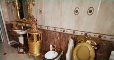Golden toilet, kitchen found in Russian police officer's mansion