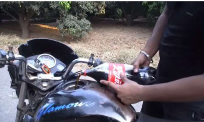 Casting Full Bottle of Coca-cola in the fuel Tank  of Hero Honda Glamour, Then Happened this