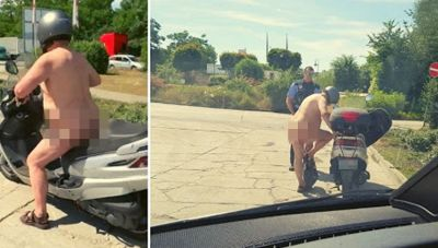 Man drive Scooty without clothes due to severe heat, check out video here
