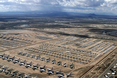 This is world's largest cemetery of airplanes, more than 4000 planes are there