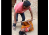 VIDEO: Alcoholic husband beats his wife for Rs. 10