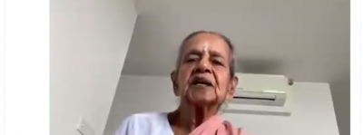 97-year-old woman makes special appeal to people, video goes viral