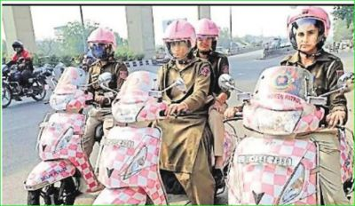 Delhi Police's women patrolling unit get pink scooters