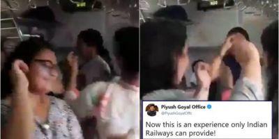 ट्रेन में महिलाएं करने लगी कुछ ऐसा काम, VIDEO हुआ वायरल