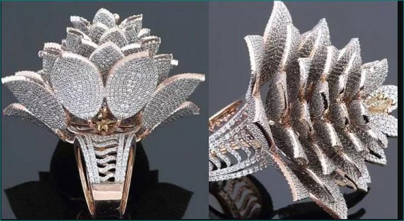 7801 हीरों की एक अंगूठी बनाकर ज्वैलर ने बना डाला गिनीज़ वर्ल्ड रिकॉर्ड