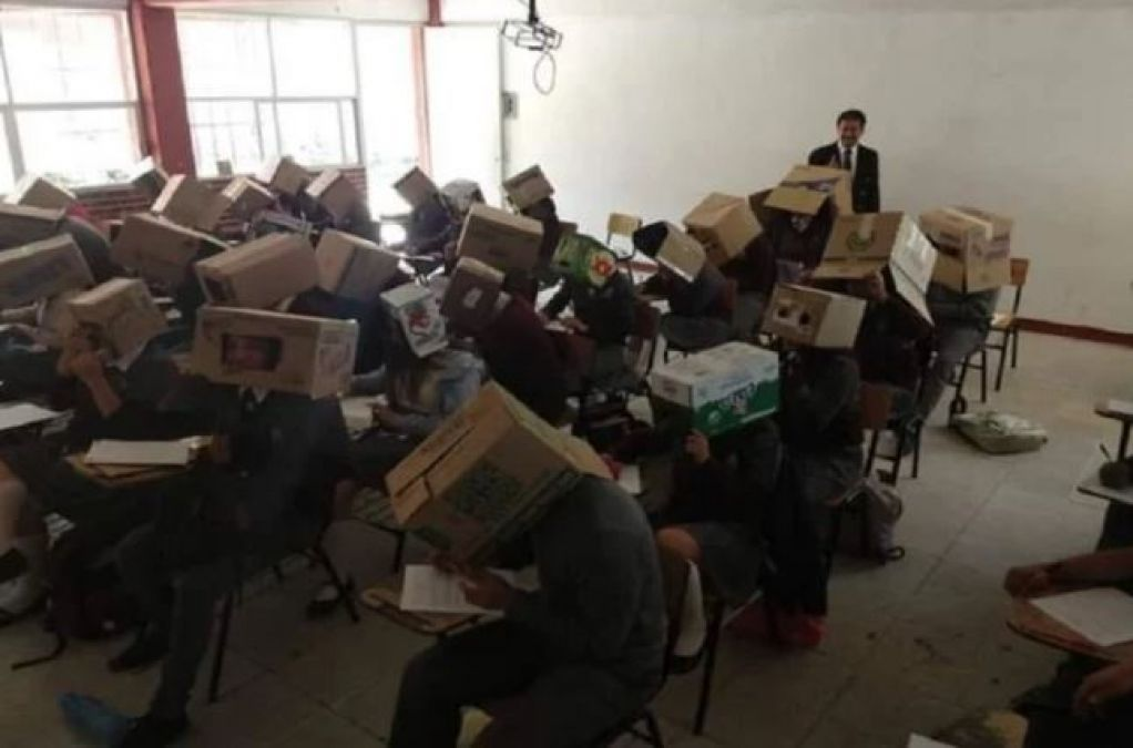 A Teacher did this unique act to stop cheating in exams