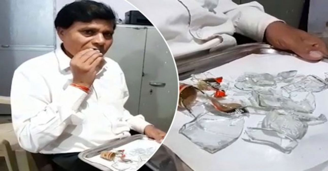 This person has been eating glass for 45 years, seeing VIDEO will fly away your senses