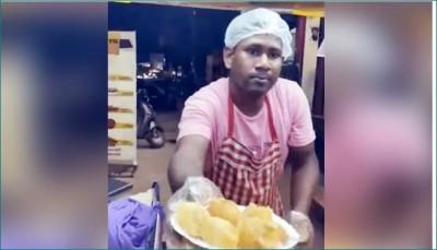 Raipur man selling Pani-Puri with unique Jugaad amidst pandemic