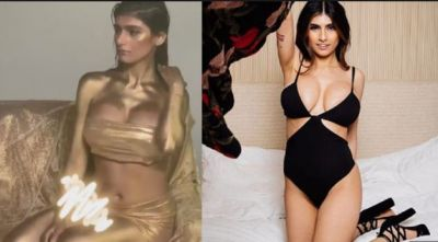 Mia Khalifa sizzles in Gold; fans go crazy!