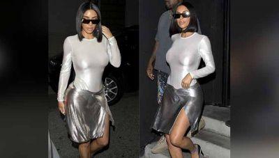 किम ने पहनी ऐसी ट्रांसपेरेंट ड्रेस साफ़ नजर आए प्राइवेट पार्ट्स