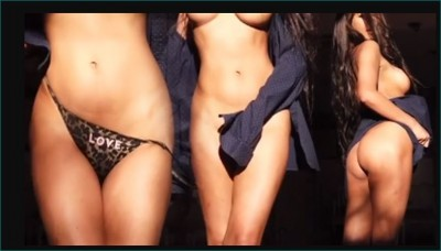 Video: Poonam Pandey became completely nude