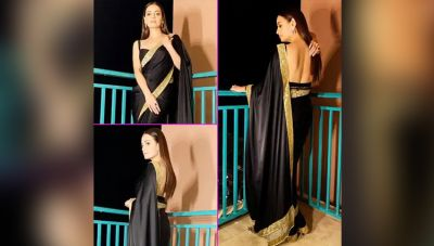 Dia Mirza stuns in black saree, check out picture here