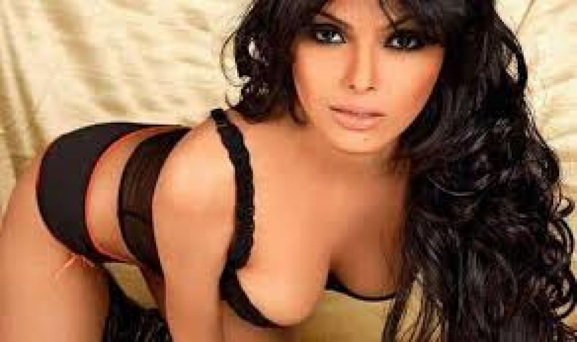 Sherlyn Chopra was seen doing workouts without any shame, hid her figure from dumbbell