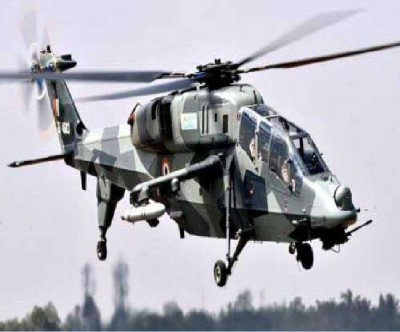 Two light combat helicopters developed by HAL, capable of penetrating targets