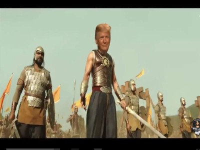 Trump's Bahubali avatar seen on Twitter, Video went viral on social media