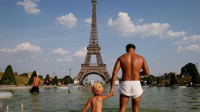 Scorching heat in France, Record broken in Europe