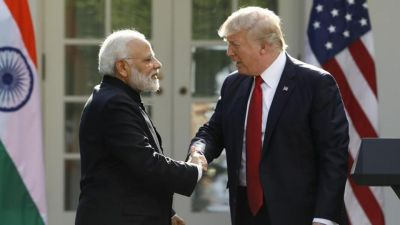 Trump meets pm Modi is this way, check out the video here